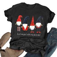 Women Just Hangin' with My Gnomies T-Shirt Santa Shirt