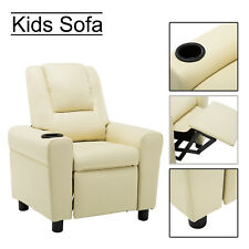 Kids Recliner Armchair Sofa Seat Couch Chair Children Furniture with Cup Holder