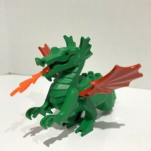 VTG Lego 6028 6082 6087 Castle Dragon Knight with Red Wings Posable Moveable