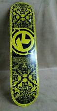 Kryptonics Skateboard no wheels yellow/black
