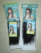 "AVENUE by VENUS Weave Extension Track Hair YAKY 8"" 1B Lot x 2 Human Hair Blend"