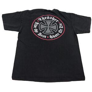Independent x Thrasher F*** the Rest Skate Die Skateboard T Shirt BLACK Med Q38