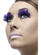 Púrpura Pluma Pestañas Smiffys 36523 enviados desde el Reino Unido señoras Vestido de fantasía