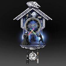 Return Of The Jedi Star Wars Lmt Edition Quartz Wall Clock Illuminates Sound New