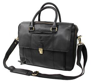"StarHide Real Leather 15.5"" Laptop Travel Bag Briefcase Office School Bag 530"