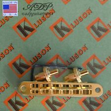 Kluson CHEVALET /GIBSON BRONZE NASHVILLE TOM BELL BRASS BRIDGE US KLP-1203G GOLD