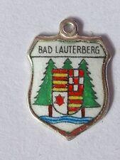 Bad Lauterberg, vintage silver shield enamel travel charm