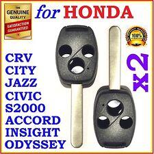 Fit Honda Accord/CRV/Civic/City/Jazz/Odyssey/S2000 Three Button Key Remote Shell