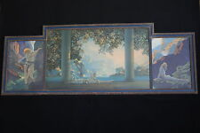 Original Maxfield Parrish Large Tryptic with Daybreak, Canyon, Wild Geese