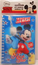 Journal 3D Disney MICKEY MOUSE - ROCK STAR Children's Diary Notebook Agenda