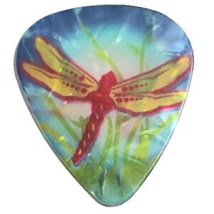 12 Pack DRAGONFLY Blue Turquois Red Pearl Colorful Pick Medium Guitar Picks