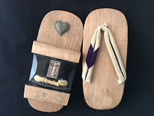 Antique Japan Geta Shoes Chaussures Japonaise Ancienne Japanese
