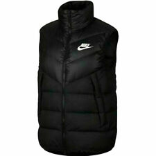 Authentic Nike Sportswear NSW Down Fill Windrunner Vest Gilet Black