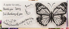 Butterfly Note Clear Stamp Set