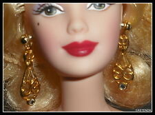 JEWELRY BARBIE MANN'S CHINESE THEATRE DOLL FAUX GOLD DANGLE EARRINGS ACCESSORY