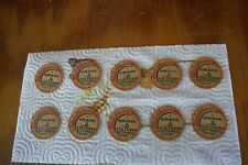 (10) Red Label Fleischhauer's Dairy milk caps- Mulberry, Indiana IND Ph. 5-R-7