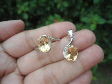 NATURAL CITRINE STERLING 925 SILVER PENDANT & RING - S7.25 SET