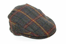 Classic Country Keepers Derby Tweed Homme Vert Olive Bleu Stitch Flat Cap M