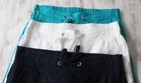 Ladies M&S Sizes 6-18 Wide Leg Pure Linen Trousers New S M L