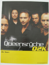 Queenryche Promo Tour Poster 1999 Autographed By Tate Gray Rockenfield Q2K