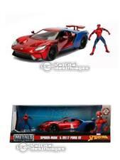 Spider-Man 2017 Ford GT Jada Toys 99725 1/24 with Spider-Man Diecast Figure