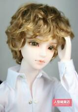 BJD Doll Hair Wig Mohair 8-9 inch 20-22cm brown golden 1/3 SD DOD LUTS AOD MK
