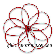 RED 3mm 10 mtr Wedding Bridal Cake Decoration Pearls Fused Beads on String