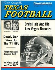 1971 Dave Campbell's Texas Football 9/30/1971 Don Meredith Chris Hale