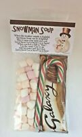 Galaxy Hot Chocolate Drink Snowman Soup with Mini Marshmallows and Candy Cane