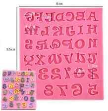 Fun Silicone Alphabet Letter Trays Chocolate Mold Cake Fondant Decorating Tools