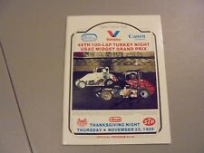 November 23,1989 Usac Midget Race Program,Ascot,Winner Gurney Signed,Gardena,Ca.