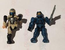 2 x Mega Bloks HALO Blue Master Chief & Marine Mini Figure