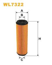Wix WL7322 Car Oil Filter Eco Cartridge Replaces HU514x CH9918ECO OX1835D1