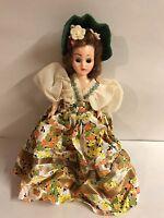 "Vintage Kraft Cheese Beautiful Doll Of Many Land Sleepy Eyes Plastic USA Toy 7"""