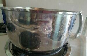 Vintage West Bend 3 Qt Grip N Whip Stainless Steel Mixing Bowl w/ Handle