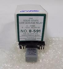 ECA 0-30MA 0-120VAC/DC SOLID STATE LOW LEAKAGE RELAY 8-591 NIB