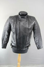 CLASSIC SPORTEX C4 BLACK LEATHER BIKER JACKET 36 INCH