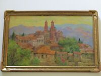 FINEST ANDREAS ROTH PAINTING EARLY CALIFORNIA ARTIST MEXICO TAXCO REGIONALISM