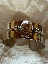 Sterling Silver Scarab Cuff Bracelet