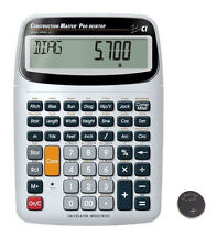 Calculated Construction Master Pro Desktop Calculator 44080 with Spare Battery