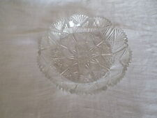 Early American prescut glass bowl nice old piece