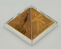 Niue 2014 - Great Pyramids Masterpiece of Mint Art - Gold-Plated Silver Coin