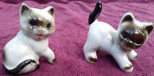 Siamese Cat Pair Kittens Cats Ceramic Figurine Pair