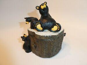 LIMITED EDITION * THREE BEARS BOX * JEFF FLEMING BEARFOOTS TINKET BOX ~ NO FLAWS