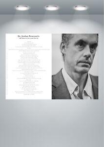 Jordan Peterson 12 Rules for Life Poster Art Print - A0 A1 A2 A3 A4 A5 Maxi