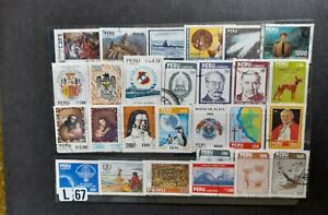 Selection of stamps from Peru as scan Good used.