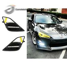 * LED Fog Lamp Cover DRL Daytime Light Wire Kit Toyota 86 Scion FR-S Subaru BRZ