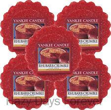 5 YANKEE CANDLE TARTS MELTS Rhubarb Crumble BUY 2+ SAVE 20% - FOOD FRAGRANCE