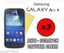 3x Hq Transparente Protector De Pantalla Cubierta Lcd Film Protector Para Samsung Galaxy Ace 4