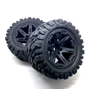 Traxxas Assembled RXT Wheels and Talon Extreme Tyres 2.8 Black (2) - New Genuine